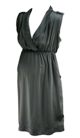 *New* Gray V-Neck Maternity Dress From A Pea in the Pod Collection Maternity (Size Medium)
