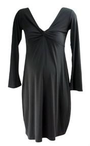 Black Olian Maternity Front Cross Tie Maternity Dress (Gently Used - Size Medium)