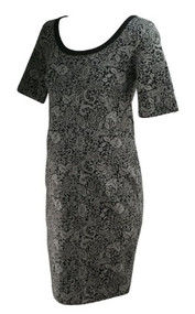 *New* Gray and Black Swirl A Pea In The Pea  Pod Maternity 3/4 Sleeve Maternity Floral Print Dress