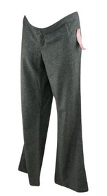 *New* Gray Married Chaiken Belly Dance Maternity Plain Front Maternity Flare Pants (Size Large)