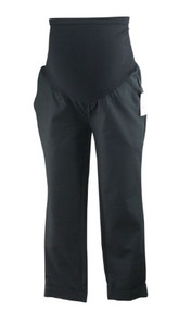*New* Black A Pea in the Pod Maternity Cropped Cuffed Career Pants (Size Small)