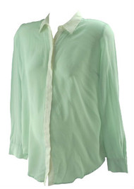 *New* Mint A Pea in the Pod Maternity Pure Silk Button Down Career Maternity Blouse (Size Medium)