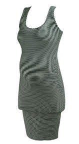Striped Twenty for A Pea in the Pod Collection Maternity Sleeveless Casual Ruched Bodycon Dress (Like New - Size Small)