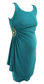 *New* Sea Green A Pea in the Pod Maternity Sleeveless Special Occasion Maternity Dress with Side Ruched Details (Size Small)