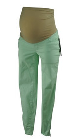 *New* Mint Green A Pea in the Pod Maternity Exposed Zipper Maternity Skinny Jeans (Size X-Small)