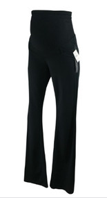 *New* Black A Pea in the Pod Maternity Casual Maternity Full Panel Pants (Size Small)