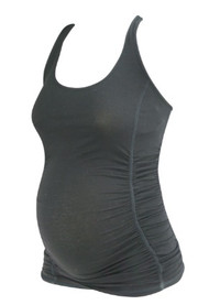 *New* Black A Pea In The Pod Maternity Racer Back Ruched Maternity Cami