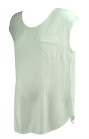 *New* Cream Splendid For  A Pea In The Pod Collection Maternity Front Pocket Maternity Blouse