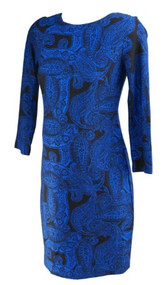 *New* Blue Taylor Maternity for A Pea in the Pod Maternity Career Dress with Exposed Zipper (Size Medium)