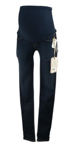 *New* Dark Blue Unique Wash Sold Design Lab for A Pea in the Pod Maternity Superfit Skinny Maternity Jeans (Size X-Small)