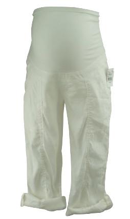 White Maternity Cargo Pants