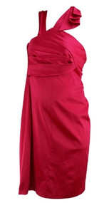 *New* Flourescent Pink Motherhood Maternity Special Occasion Maternity Dress (Size X-Large)