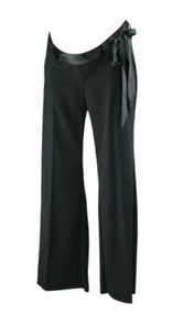 *New* Black Motherhood Maternity Flare Career Pants with Satin Ribbon Belt (Size Small)