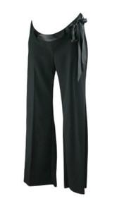 *New* Black Motherhood Maternity Flare Career Pants with Satin Ribbon Belt (Size Small)