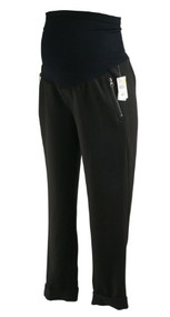 *New* Black A Pea in the Pod Maternity Full Panel Cuffed Cropped Maternity Pants with Zipper Detail Pocket (Size Large)