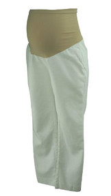 White A Pea in the Pod Maternity Cropped Pants (Like New - Size Medium)