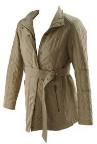 Sand A Pea in the Pod Maternity Light Weight Belted Maternity Jacket (Gently Used - Size Medium)