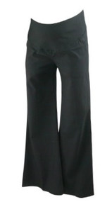 *New* Black A Pea in the Pod Maternity Wide Leg Career Maternity Pants (Size X-Small)