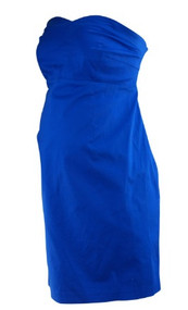 *New* Electric Blue A Pea in the Pod Maternity Cocktail Party Maternity Dress Missing Belt (Size Large)