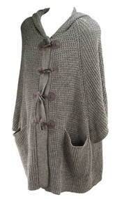 *New* Toffee A Pea in the Pod Collection Maternity Hooded Heavy Maternity Sweater (Size Medium)
