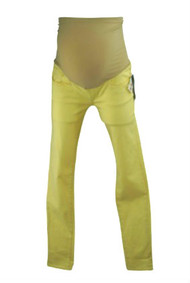 *New* Fluorescent Yellow Mavi Jeans for A Pea in the Pod Collection Maternity Full Panel Skinny Maternity Jeans (Size Small)