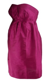 *New* Magenta Donna Morgan for A Pea in the Pod Collection Maternity Strapless Special Occasion Maternity Dress (Size Small)