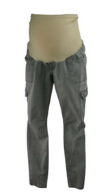 Dusty Gray Motherhood Maternity Utility Straight Leg Casual Maternity Pants (Gently Used - Size Large)