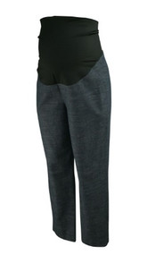 Charcoal Loft Maternity Full Panel Marled Cropped Dressy Capri Pants (Gently Used - Size 10 M)