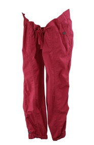 Raspberry Red Motherhood Maternity Casual Adjustable Ankle Cargo Maternity Pants (Gently Used - Size Large)