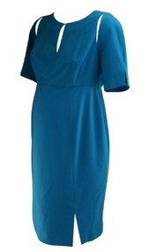 *New* Turquoise A Pea in the Pod Collection Maternity Cut Out Shoulder Design Special Occasion Maternity Dress (Size Medium)