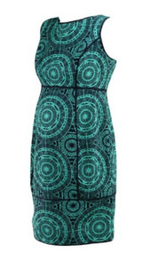 *New* Turquoise Aztec Design Taylor Maternity for A Pea in the Pod Collection Maternity Sleeveless Special Occasion Maternity Dress (Size Small)