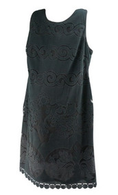 *New* Black Swirl Design A Pea in the Pod Maternity Sleeveless Mesh Special Occasion Maternity Dress (Size Large)
