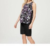 Black Loft By Ann Taylor Maternity Full Panel Dressy Maternity Shorts (Like New)