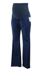 *New* Navy A Pea In The Pod Maternity Full Panel Casual Navy Boot Cut Khaki Pants