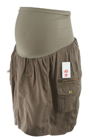 *New* Brown A Pea in the Pod Maternity Safari Cargo Maternity Skirt (Size Large)