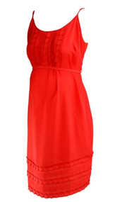 *New* Scarlett Red A Pea in the Pod Maternity Belted Spaghetti Strap Maternity Dress (Size Medium)