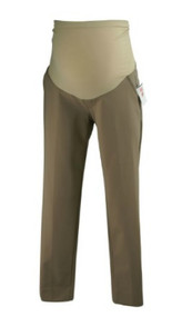 *New* Tan A Pea in the Pod Maternity Cropped Straight Cut Maternity Pants (Size Small)