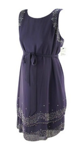 *New* Plum A Pea in the Pod Maternity Beaded Embellished Special Occasion Maternity Dress (Size Medium)