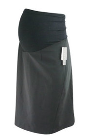*New* Black A Pea in the Pod Maternity Career Maternity Small Slit Skirt (Size US 8)