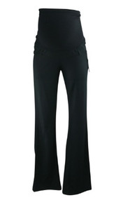 *New* Black A Pea in the Pod Maternity Career Slim Boot Cut Maternity Pants with Belt Loops (Size Small)