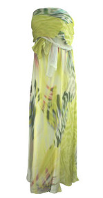 *New* 100% Silk Aurora Borealis Design A Pea in the Pod Collection Maternity 3-Way Convertible Maternity Dress (Size Medium)
