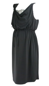 *New* Black A Pea in the Pod Collection Maternity Sleeveless Casual Maternity Dress with Lace Back (Size Large)