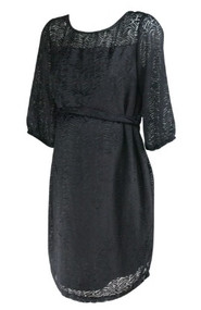 *New* Black A Pea in the Pod Maternity Etched Print Velvet Maternity Dress (Size Medium)
