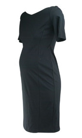 *New* Onyx Black Rosie Pope for A Pea in the Pod Collection Maternity 3/4 Sleeve Maternity Dress (Size Medium)