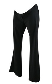 *New* Black Motherhood Maternity Straight Leg Career Pants with Elastic Adjustable Waist (Size Small)