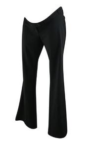 *New* Black Motherhood Maternity Straight Leg Career Pants with Elastic Adjustable Waist (Size Small)