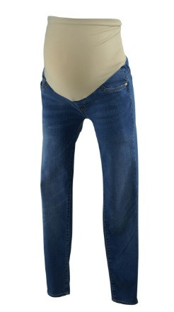 Blue LED Luxe Essentials Denim Maternity Skinny Maternity Jeans ...