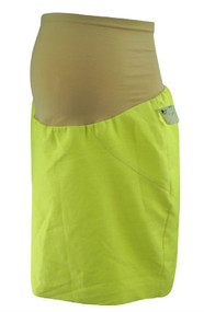 *New* Lime Green A Pea in the Pod Collection Maternity Career Maternity Skirt with Slit on back with Minor Flaw (Size Small)