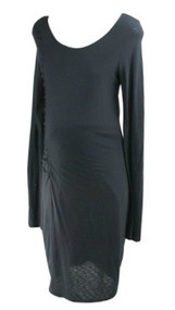 *New* Black Graham & Spencer for A Pea in the Pod Collection Maternity Ruched Casual Maternity Dress (Size Large)