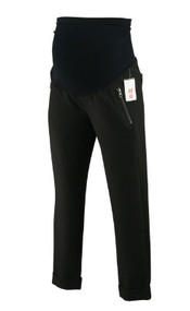 *New* Black A Pea In The Pod Maternity Full Panel  Side Zipper Cuffed Maternity Career Pants